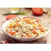 Bunter Gersten-Salat mit Lachs