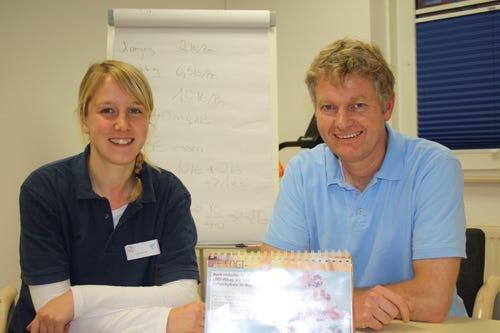 Ernährungsberaterin Jessica Fuchs und Diabetologe Dr. Meinolf Behrens vom Diabeteszentrum Minden