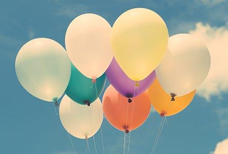Bunte Luftballons also Symbolbild für (Bolus) Varianten
