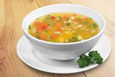 Kartoffel-Gemüse-Suppe, Fasten
