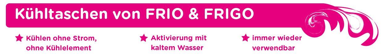 Frio und Frigo Kühltaschen Banner