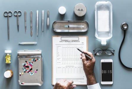Checkliste beim Arzt