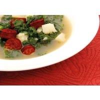 Grünkohl-Kartoffel-Suppe mit Chorizo
