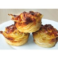 Spaghetti Carbonara Muffins