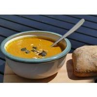 Karottensuppe mit Linsen (vegan)