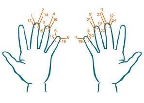 Tipps zur Blutentnahme - Einstichstellen am Finger