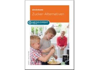 Cover der Zuckerersatzstoffe Broschüre von Mediq Direkt