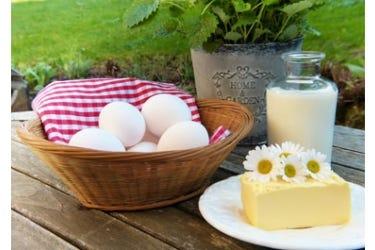 Eier und Milch
