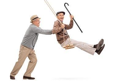 Symbolbild: Fitte Männer im hohen Alter