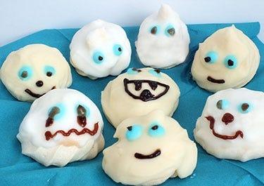 Halloween Baiser Geister für Diabetiker