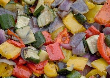 Rezept für mediterranes Gemüse mit Nährwertangaben, geeignet für Diabetiker