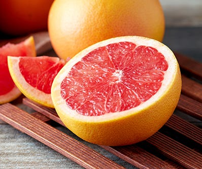 aufgeschnittene Grapefruit