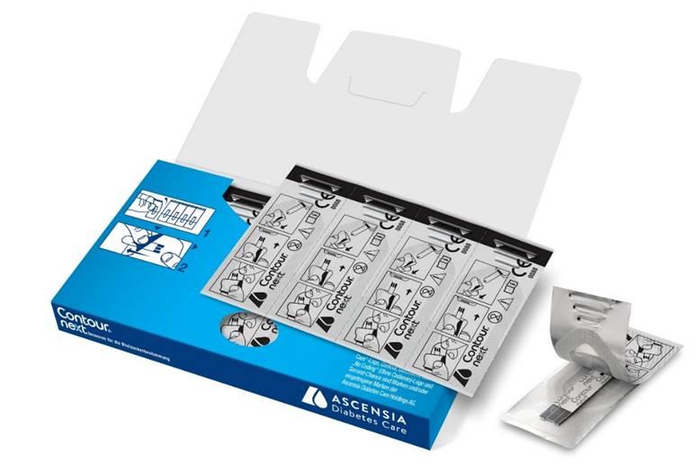 Kartonage 25er CONTOUR®NEXT Sensoren einzelnverpackt