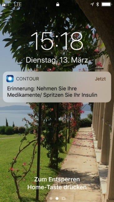 Die Erinnerungsfunktion der Contour Next App