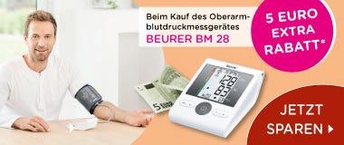 BM28 Beurer Blutdruckmessgerät 5 Euro Rabatt