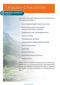 Urlaubs-Checklist Diabetiker