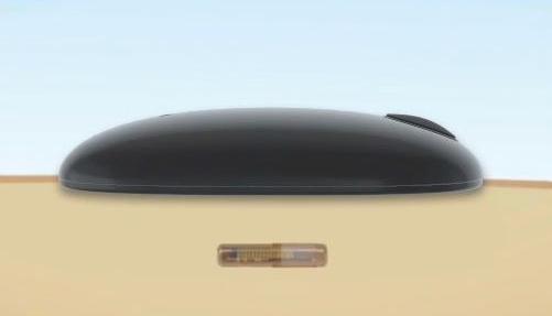 Transmitter und Sensor auf der Haut